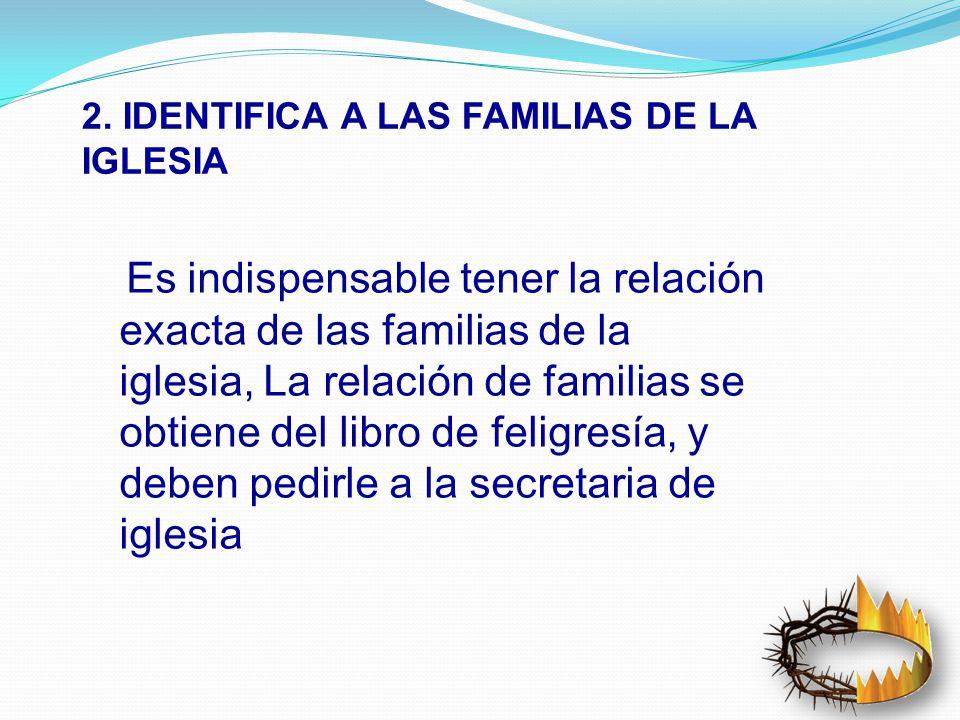 2. IDENTIFICA A LAS FAMILIAS DE LA IGLESIA