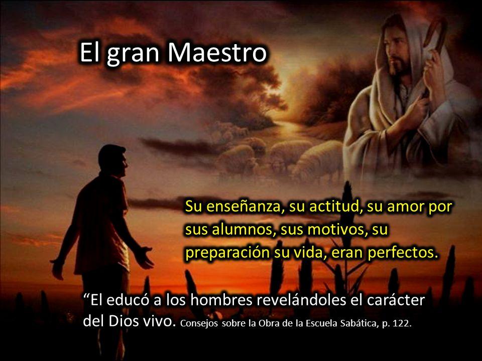 El gran Maestro Su enseñanza, su actitud, su amor por sus alumnos, sus motivos, su preparación su vida, eran perfectos.