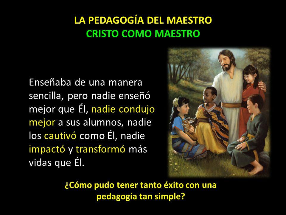 LA PEDAGOGÍA DEL MAESTRO CRISTO COMO MAESTRO
