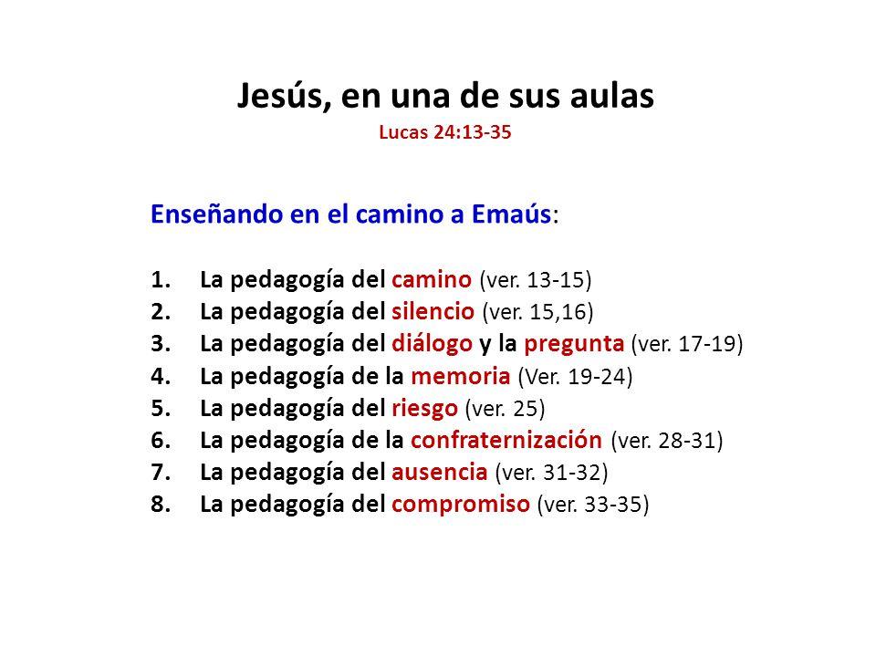 Jesús, en una de sus aulas Lucas 24:13-35