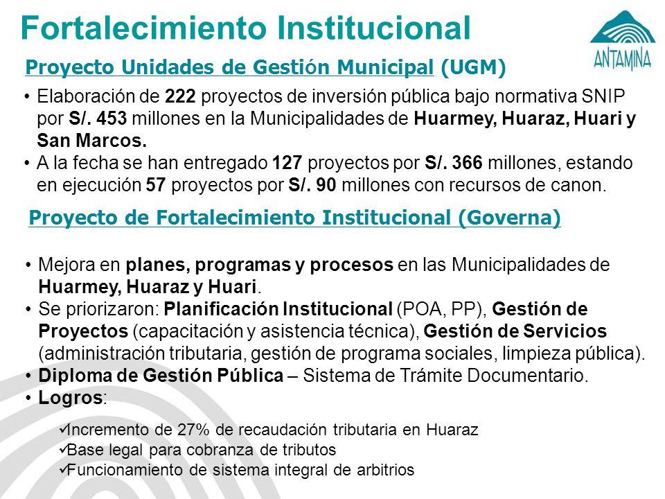 Proyecto Unidades de Gestión Municipal (UGM)