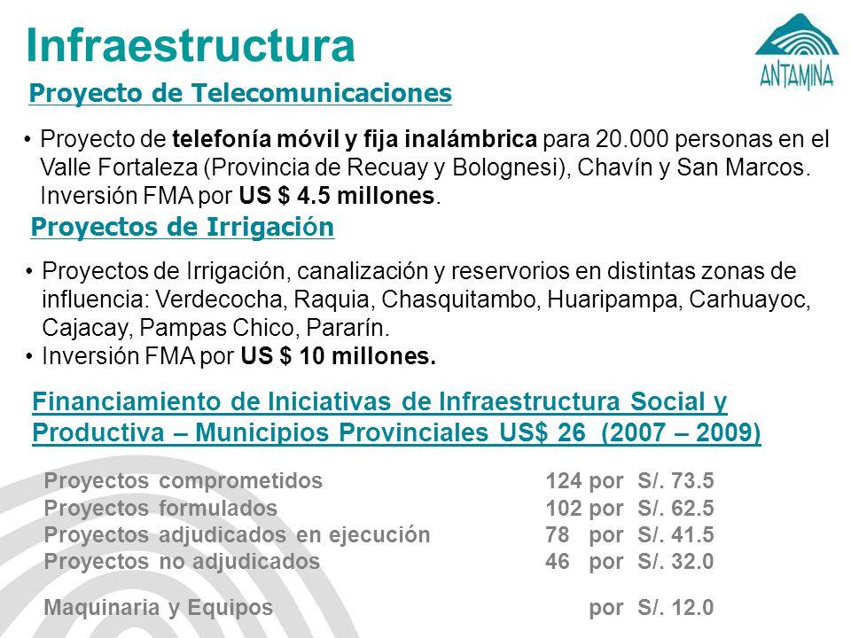 Infraestructura Proyecto de Telecomunicaciones Proyectos de Irrigación