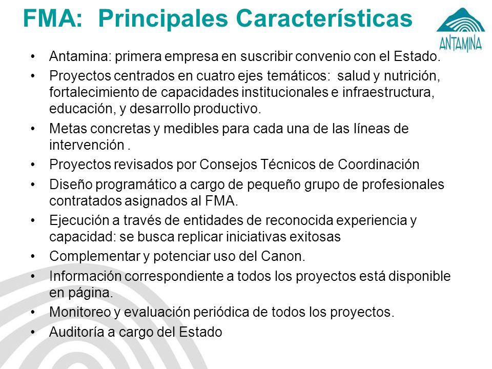 FMA: Principales Características