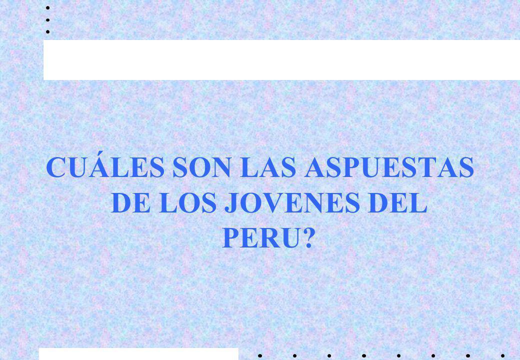 CUÁLES SON LAS ASPUESTAS DE LOS JOVENES DEL PERU