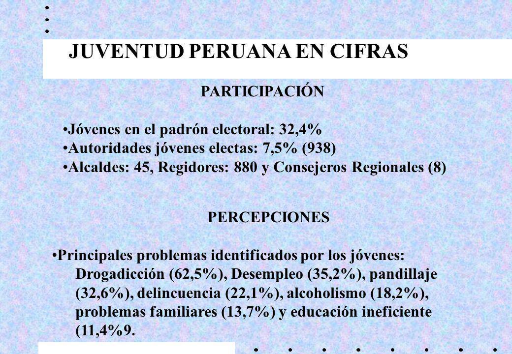 JUVENTUD PERUANA EN CIFRAS