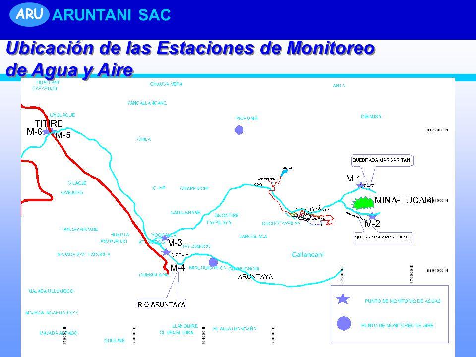 Ubicación de las Estaciones de Monitoreo de Agua y Aire