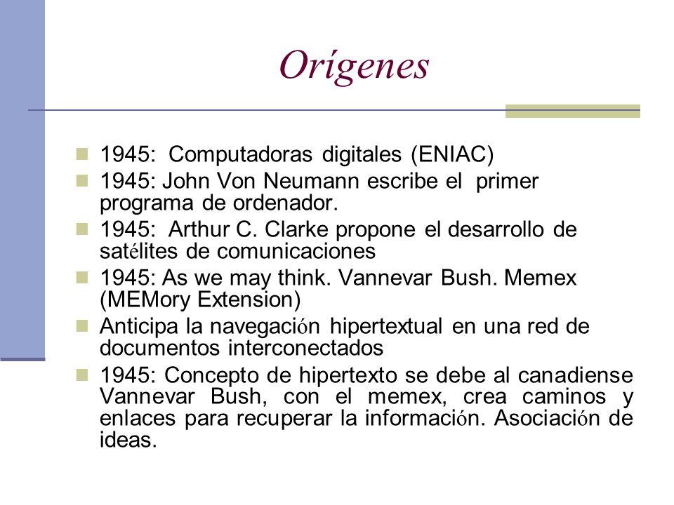 Orígenes 1945: Computadoras digitales (ENIAC)