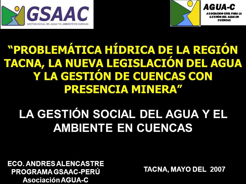 LA GESTIÓN SOCIAL DEL AGUA Y EL AMBIENTE EN CUENCAS