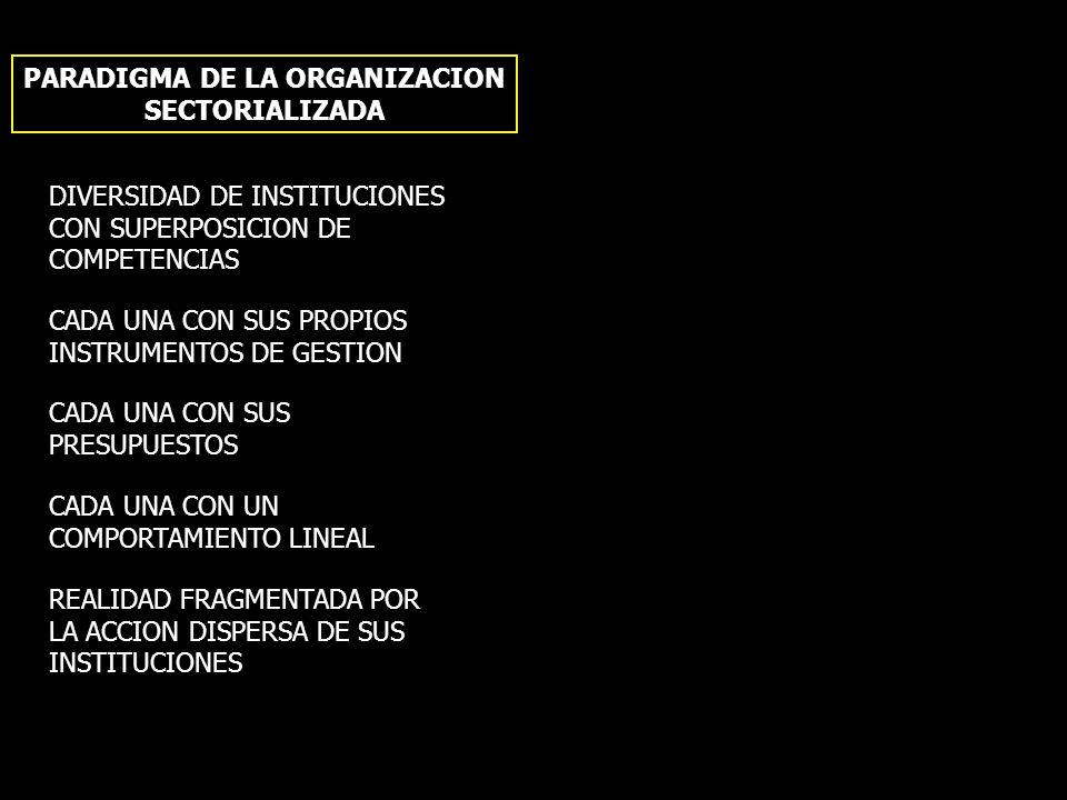 PARADIGMA DE LA ORGANIZACION SECTORIALIZADA