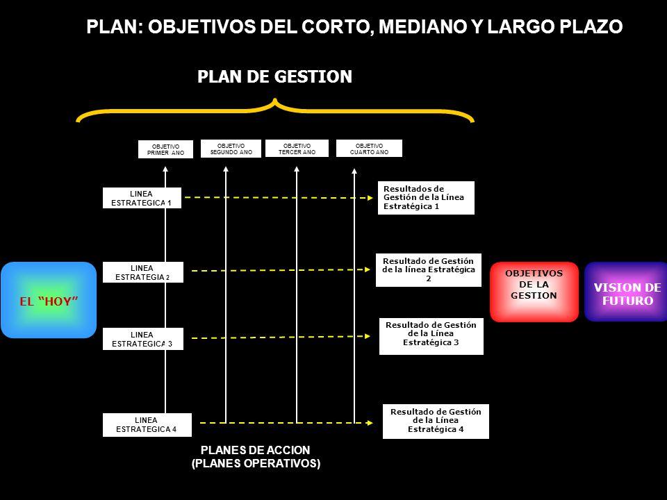 PLAN: OBJETIVOS DEL CORTO, MEDIANO Y LARGO PLAZO