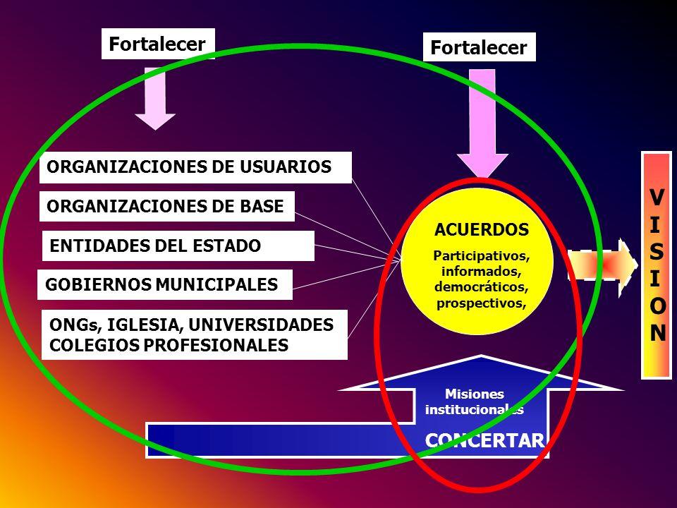 VISION Fortalecer Fortalecer CONCERTAR ORGANIZACIONES DE USUARIOS