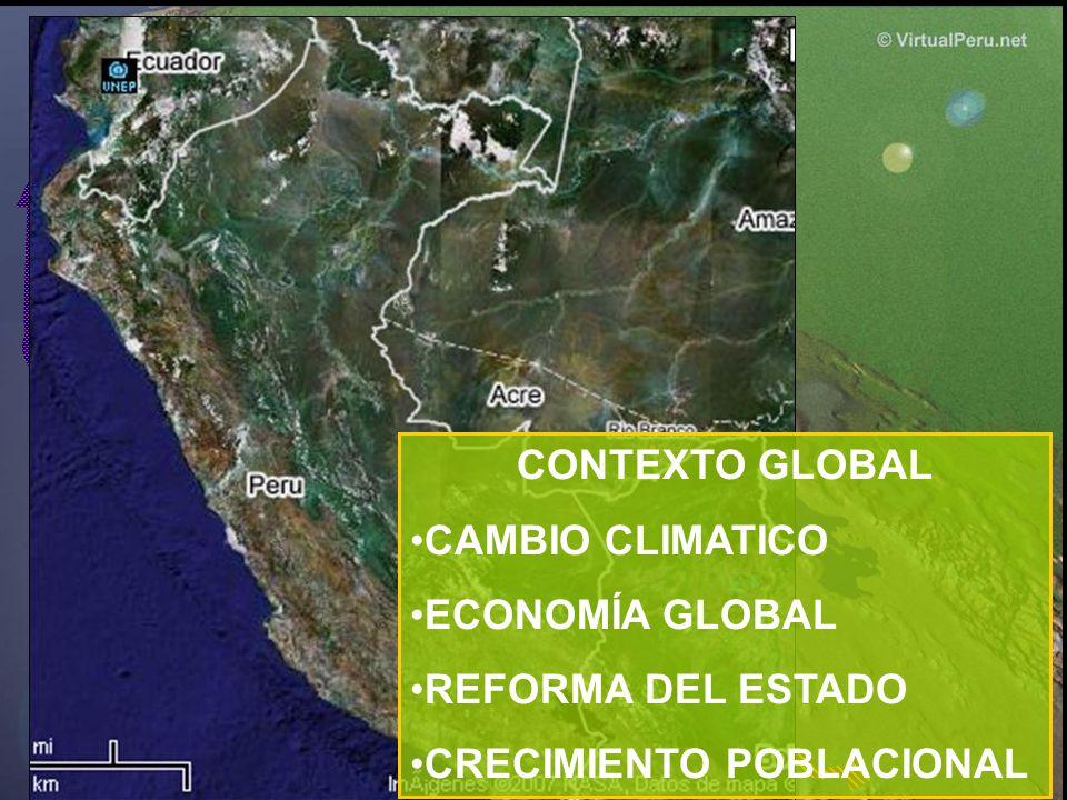 CONTEXTO GLOBAL CAMBIO CLIMATICO ECONOMÍA GLOBAL REFORMA DEL ESTADO CRECIMIENTO POBLACIONAL