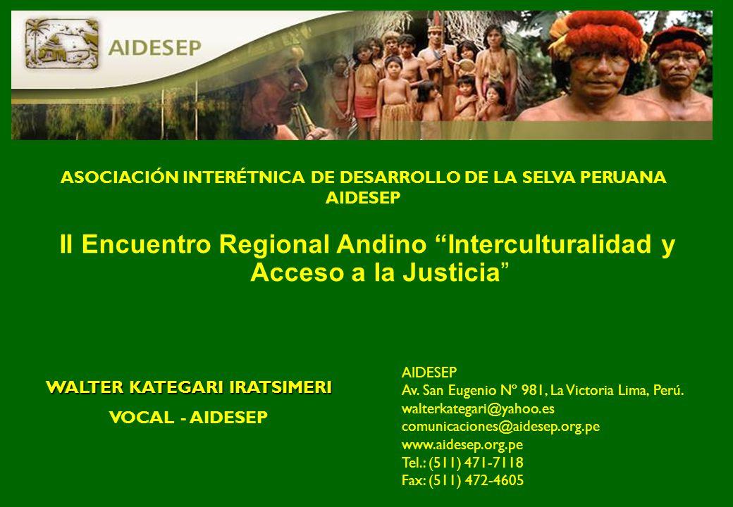 ASOCIACIÓN INTERÉTNICA DE DESARROLLO DE LA SELVA PERUANA AIDESEP