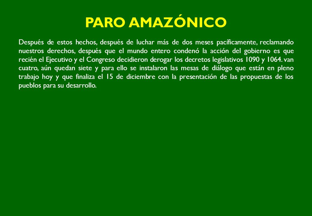 PARO AMAZÓNICO