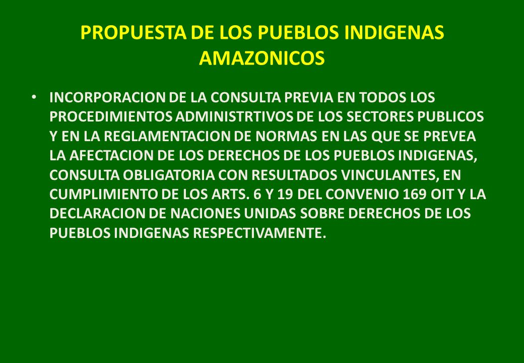 PROPUESTA DE LOS PUEBLOS INDIGENAS AMAZONICOS