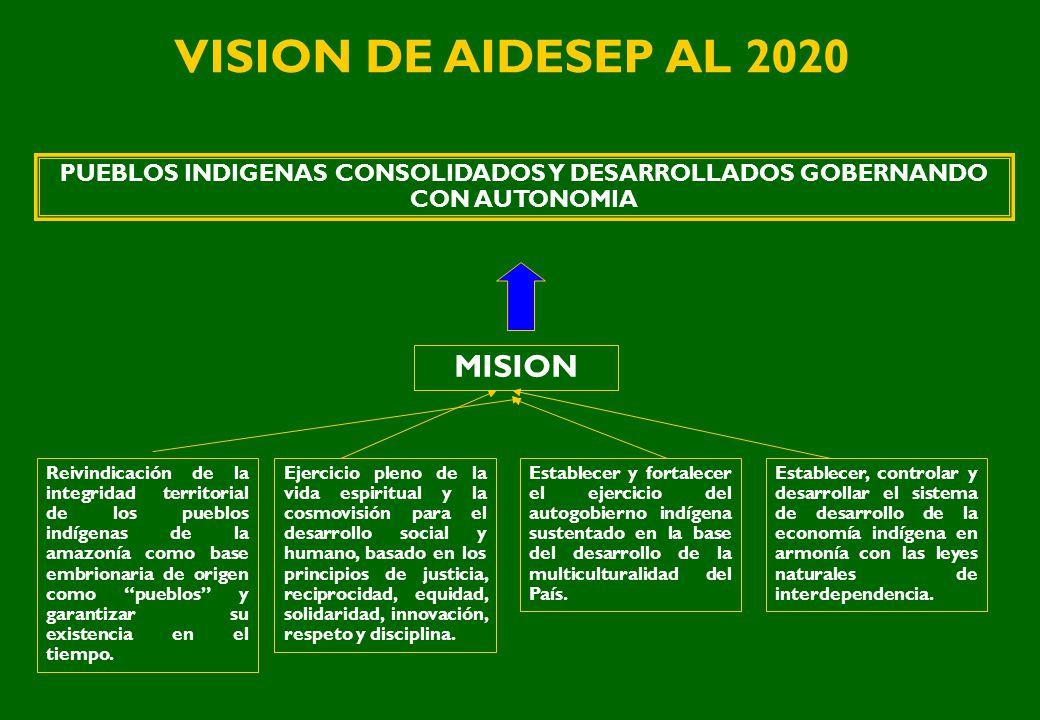 VISION DE AIDESEP AL 2020 MISION