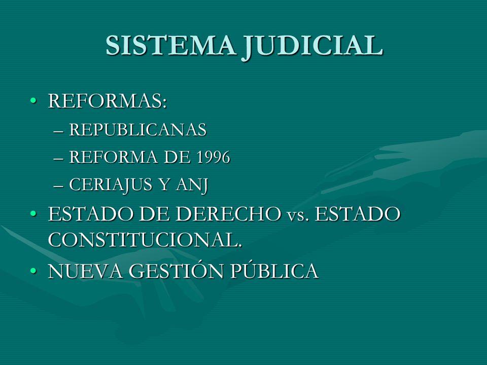 SISTEMA JUDICIAL REFORMAS: