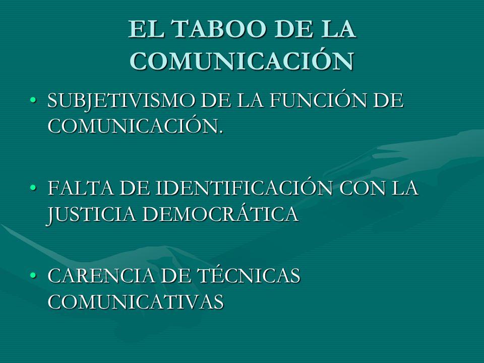 EL TABOO DE LA COMUNICACIÓN