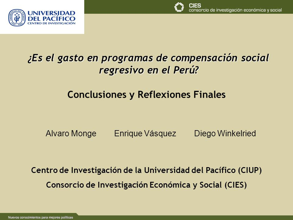 ¿Es el gasto en programas de compensación social regresivo en el Perú