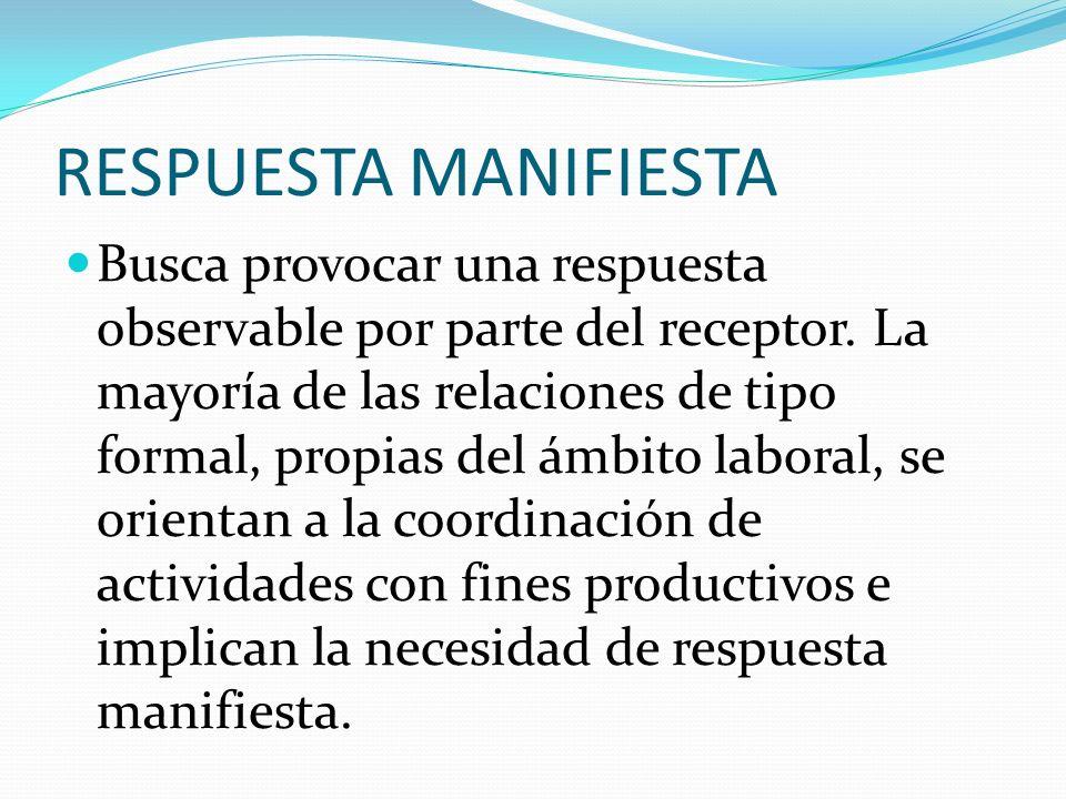 RESPUESTA MANIFIESTA