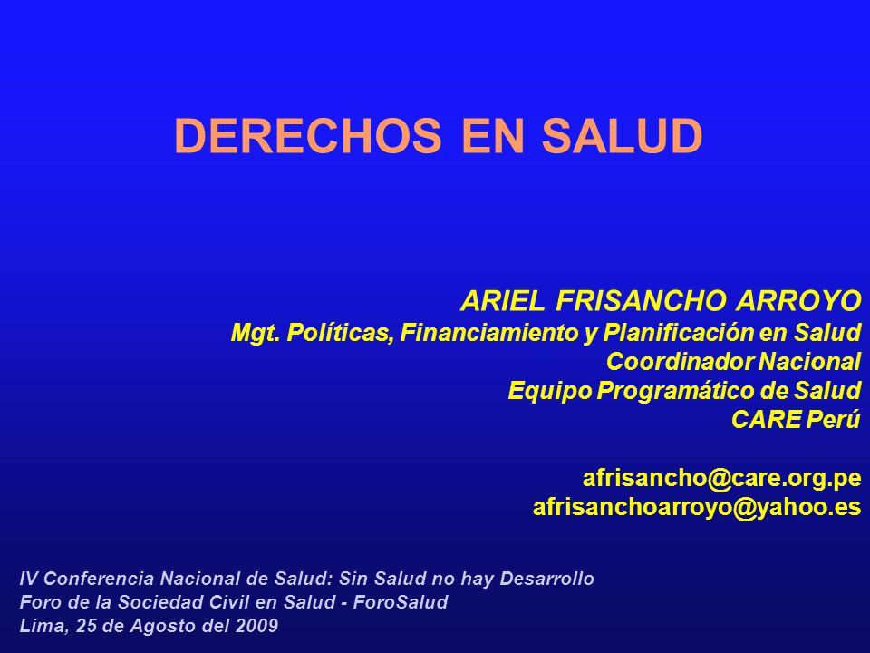 DERECHOS EN SALUD ARIEL FRISANCHO ARROYO