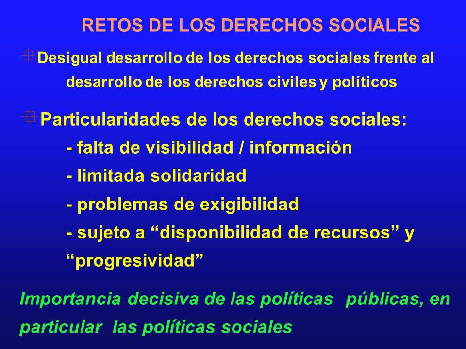 RETOS DE LOS DERECHOS SOCIALES