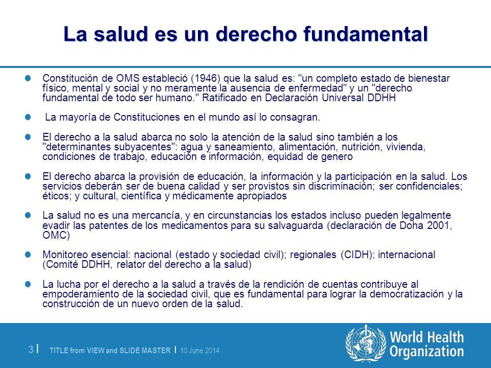 La salud es un derecho fundamental