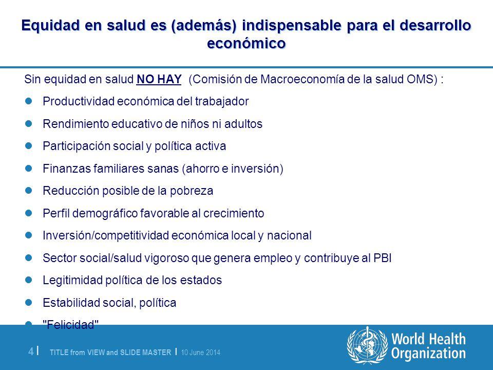 Equidad en salud es (además) indispensable para el desarrollo económico