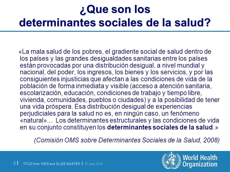 ¿Que son los determinantes sociales de la salud