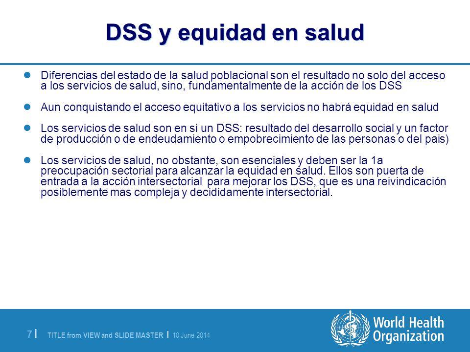 DSS y equidad en salud