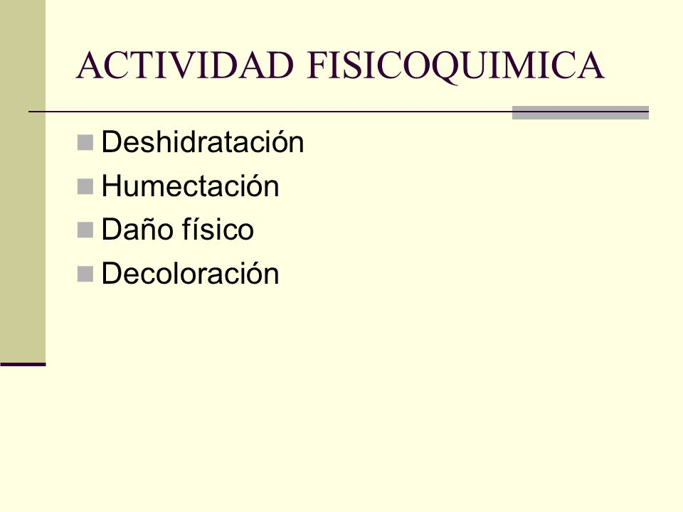 ACTIVIDAD FISICOQUIMICA