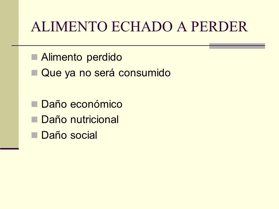 ALIMENTO ECHADO A PERDER