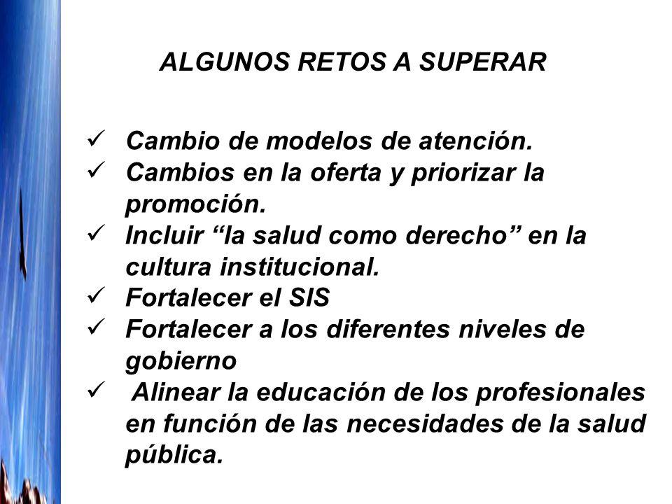 ALGUNOS RETOS A SUPERAR