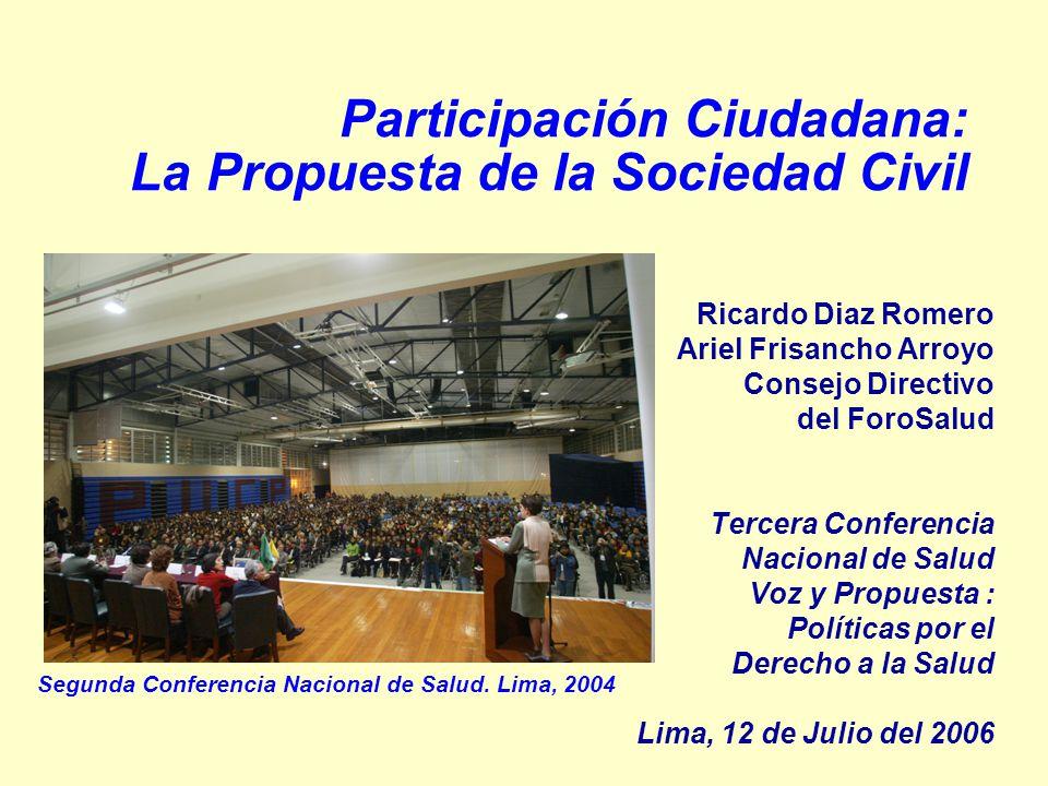 Participación Ciudadana: La Propuesta de la Sociedad Civil