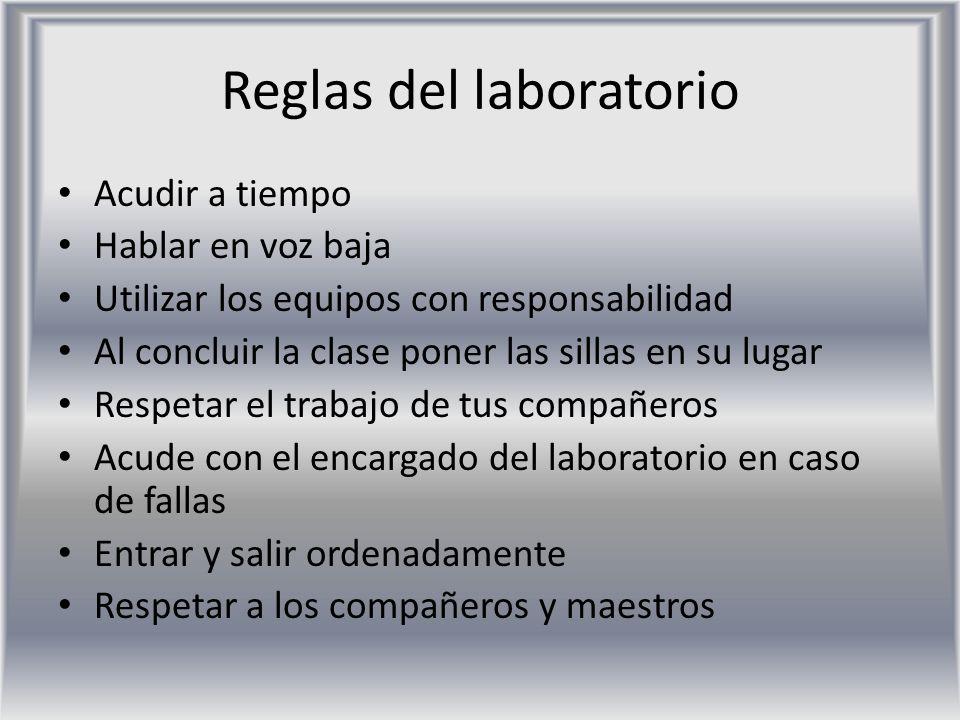 Reglas del laboratorio