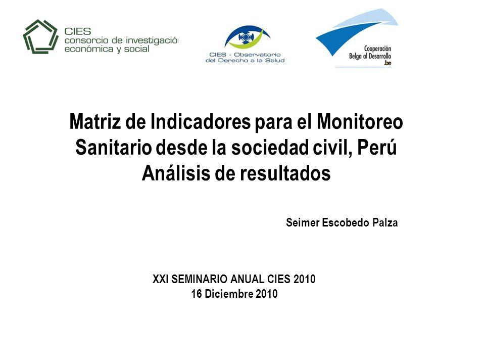XXI SEMINARIO ANUAL CIES 2010