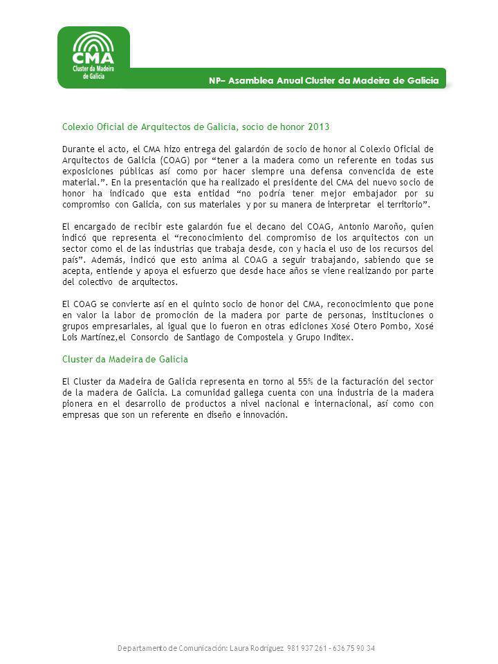 Colexio Oficial de Arquitectos de Galicia, socio de honor 2013