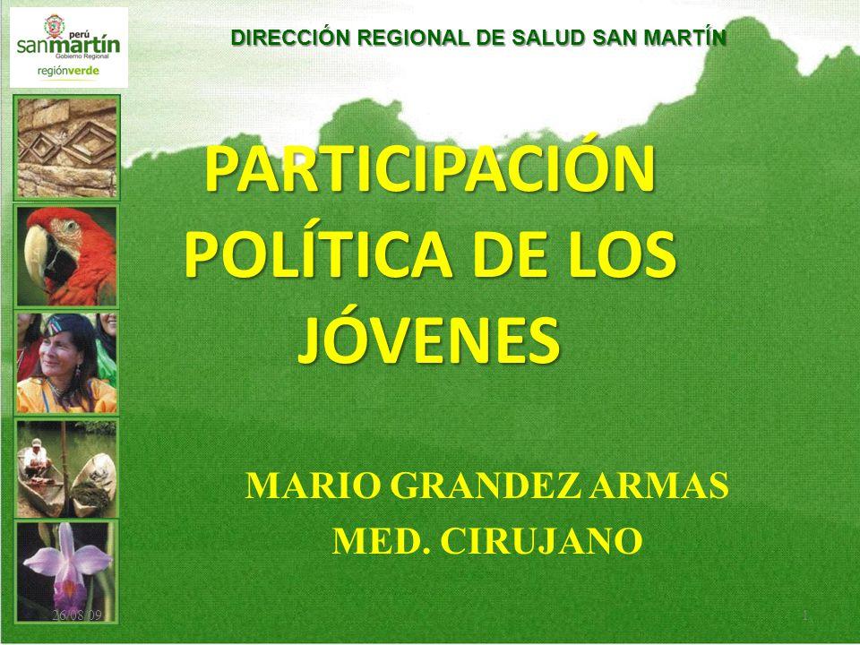 PARTICIPACIÓN POLÍTICA DE LOS JÓVENES