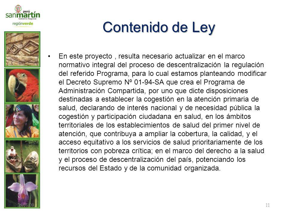 Contenido de Ley