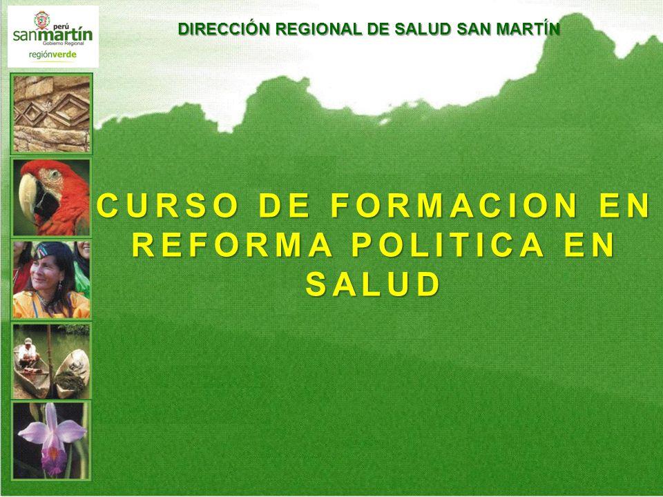 CURSO DE FORMACION EN REFORMA POLITICA EN SALUD