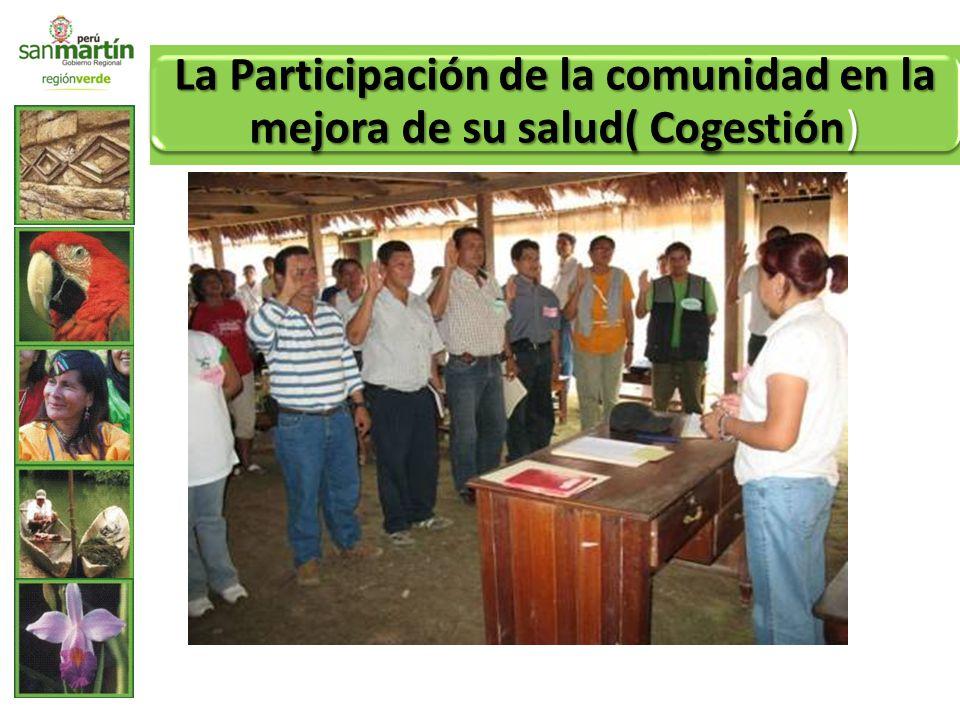La Participación de la comunidad en la mejora de su salud( Cogestión)