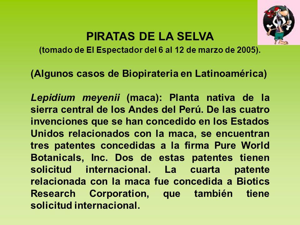 (tomado de El Espectador del 6 al 12 de marzo de 2005).