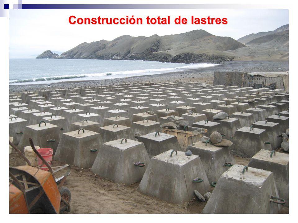 Construcción total de lastres