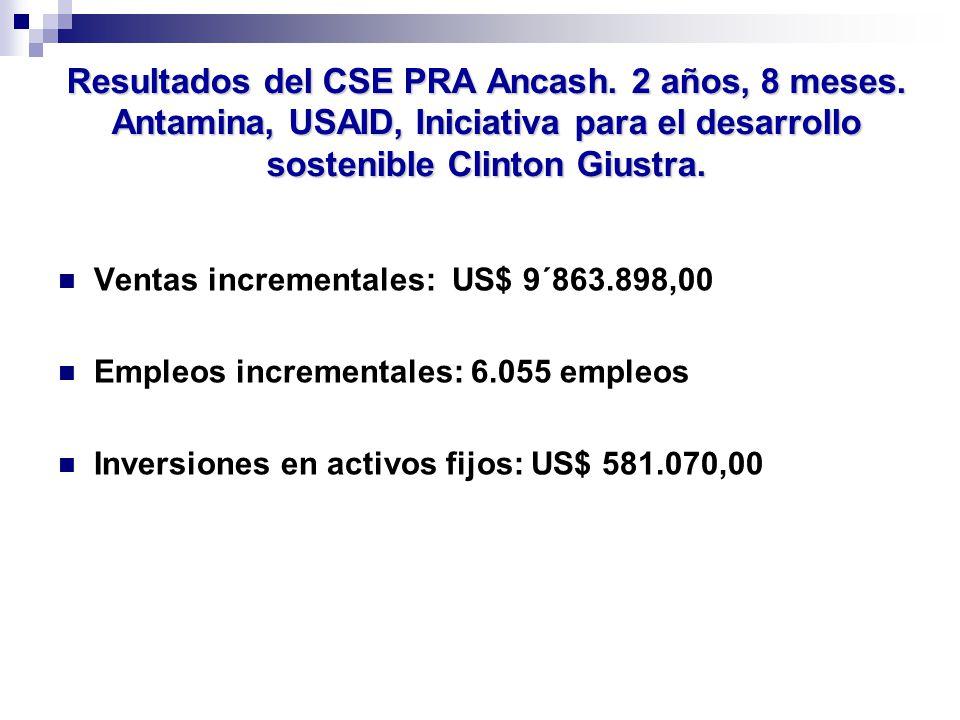 Resultados del CSE PRA Ancash. 2 años, 8 meses