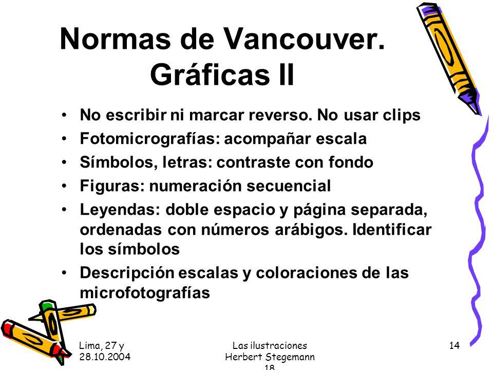 Normas de Vancouver. Gráficas II