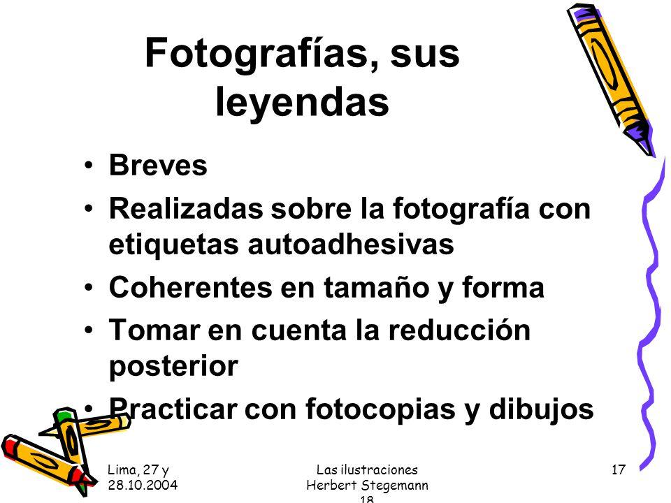 Fotografías, sus leyendas