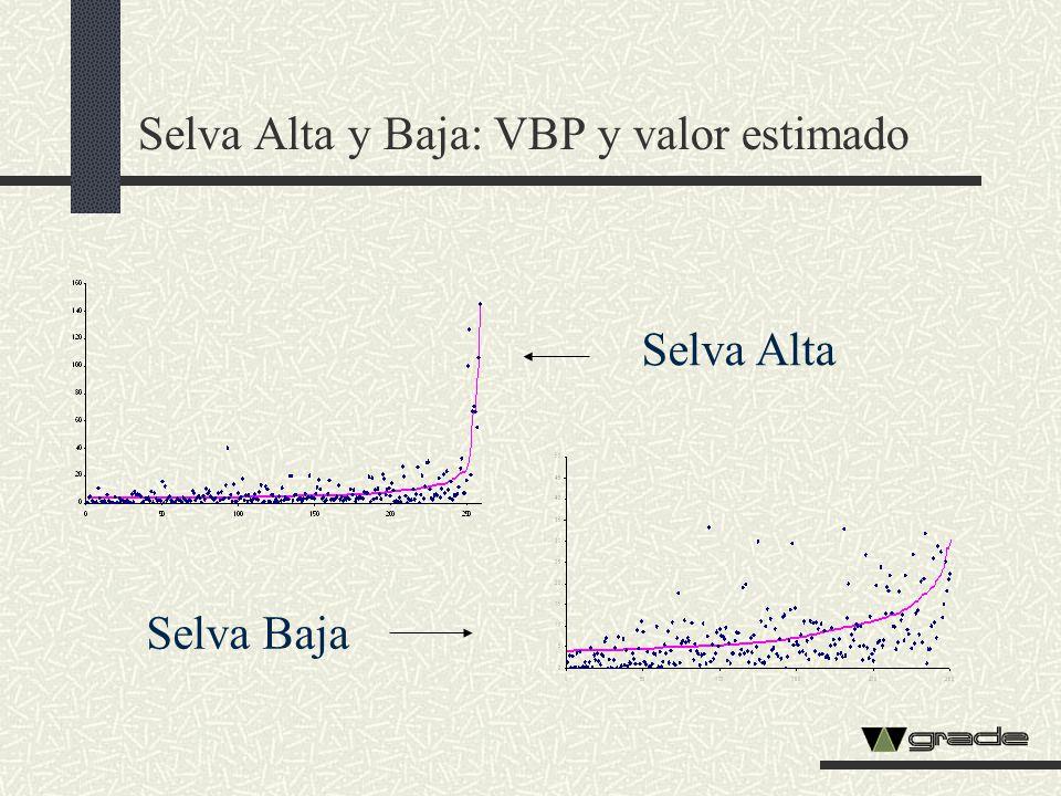 Selva Alta y Baja: VBP y valor estimado