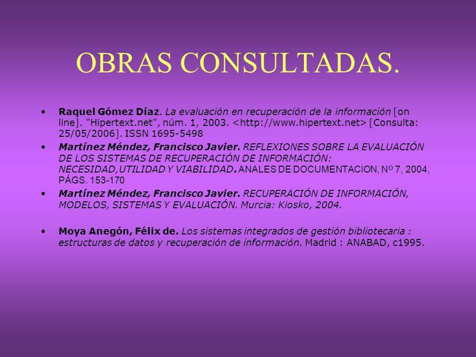 OBRAS CONSULTADAS.