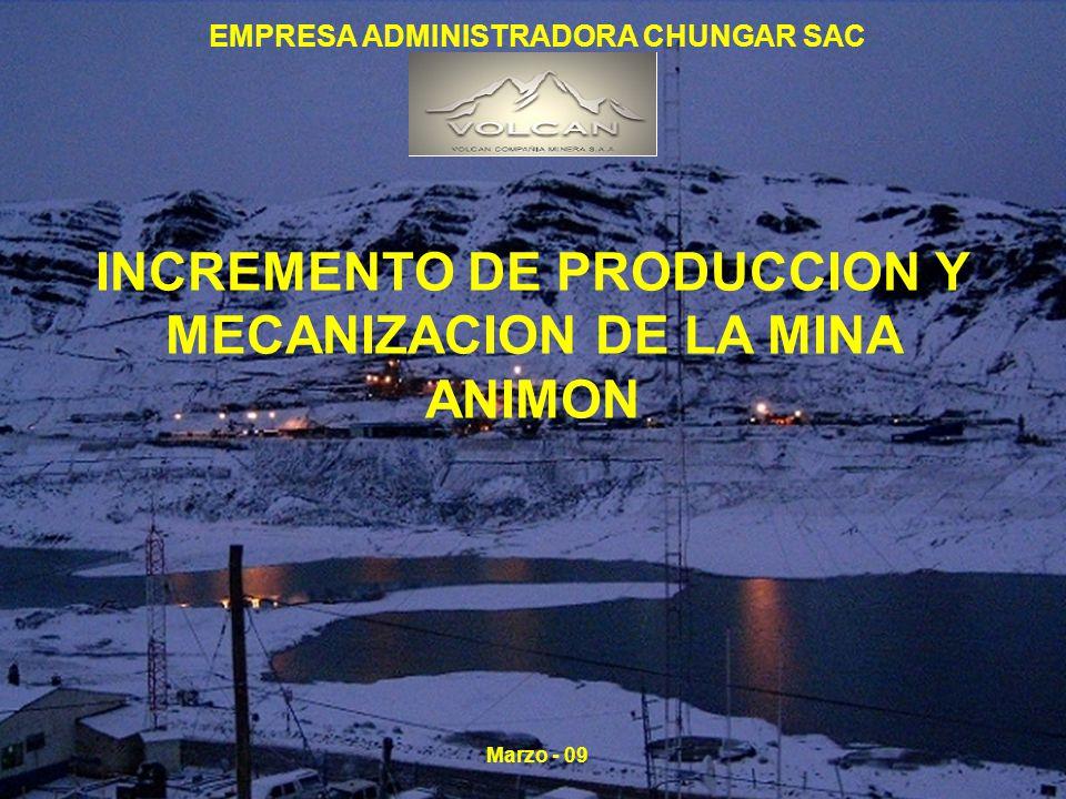 INCREMENTO DE PRODUCCION Y MECANIZACION DE LA MINA ANIMON