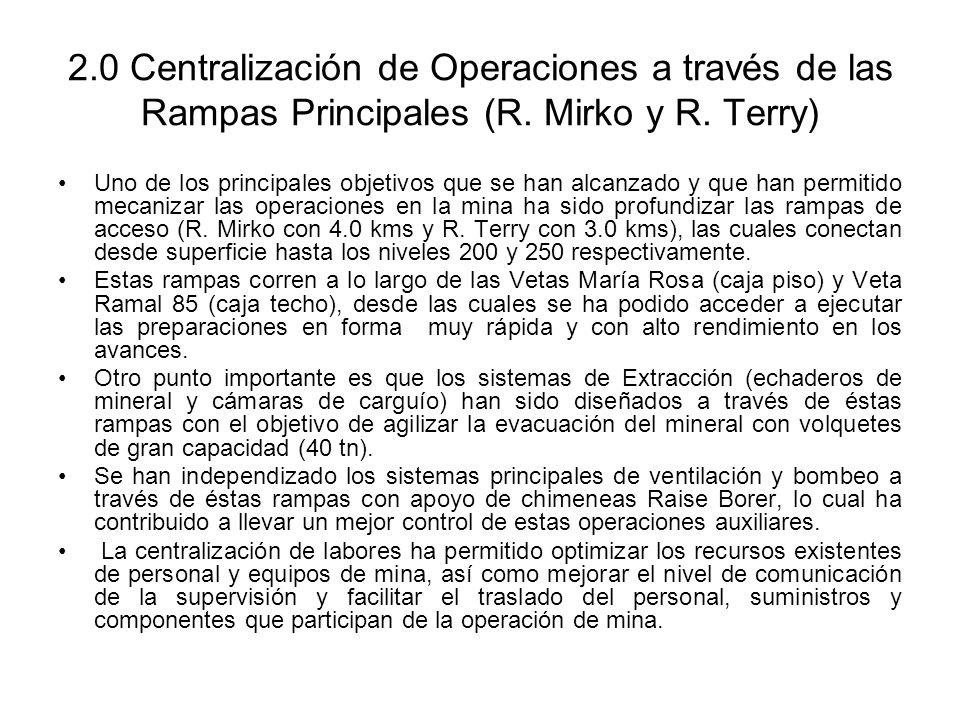 2.0 Centralización de Operaciones a través de las Rampas Principales (R. Mirko y R. Terry)